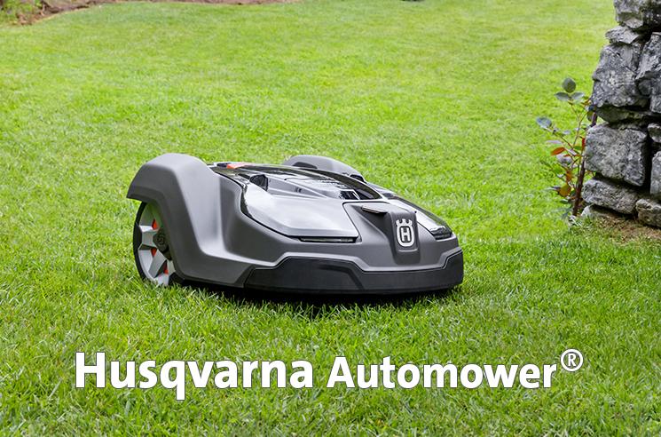 Husqvarna Automower Mähroboter bei Sieb